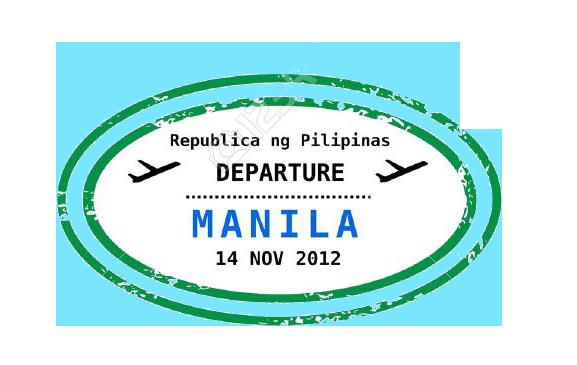 Philippine Departure Stamp