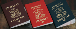 Brown, Red and Green Philippine Passport