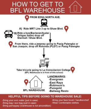 Infographic on How to get to Books for Less Warehouse sale 2017