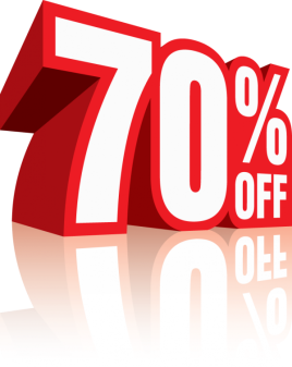 70 % OFF