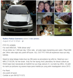Screenshot of Rufino Padua Guevarra Facebook post.