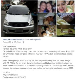 Screenshot of Rufino Padua Guevarra Facebook post.