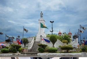 Jose Rizal monument in Carcar City Cebu Plaza