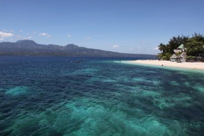 A beach in Cebu with crystal clear water
