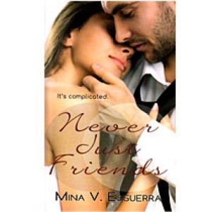Never Just Friends by Mina V. Esguerra book cover.