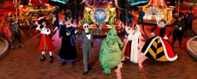 Alice in Wonderland characters on Disneyland Hong Kong.