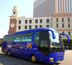 The Venetian free shuttle bus on Macau.