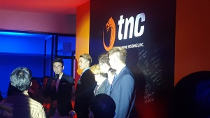 TNC Pro Team with their manager on grand opening of TNC's E. Rodriguez brand.