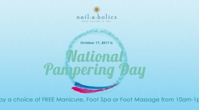 Nailaholics Ad Banner for National Pampering Day 2017.