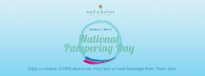 Nailaholics Ad Banner for National Pampering Day 2017