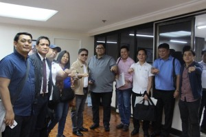 "PRRC doing President Duterte's ""fist bump"" hand gesture.."