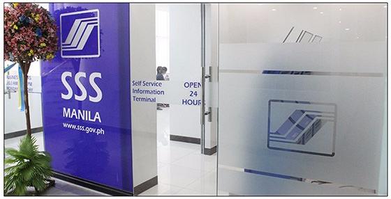 SSS Manila entrance door.