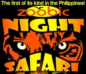 Zoobic Night Safari ad poster.