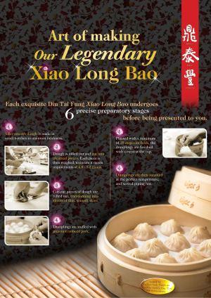 Din Tai Fung poster of making Xiao Long Bao