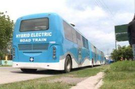 Blue Hybrid Electric Road Train