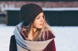 Woman wearing winter attire
