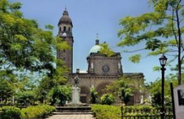 Manila Cathedral inside Intramuros