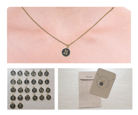 Affordable letter initial necklace