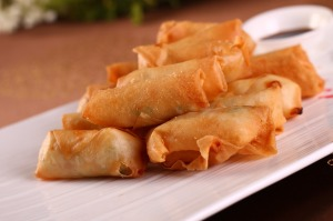 Spring rolls and lumpia