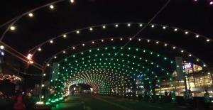 Christmas Musical Street Light Tunnel in Tiendesitas