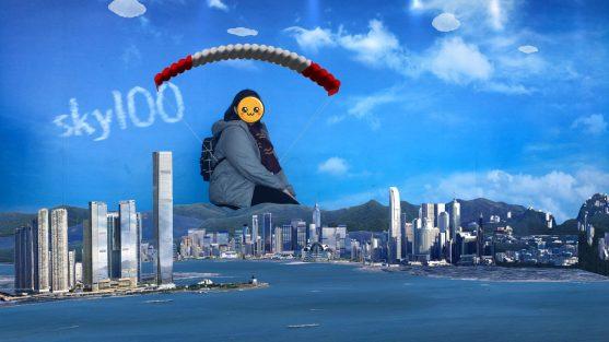 Paragliding in sky100