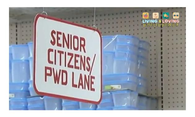 Senior Citizen / PWD Lane