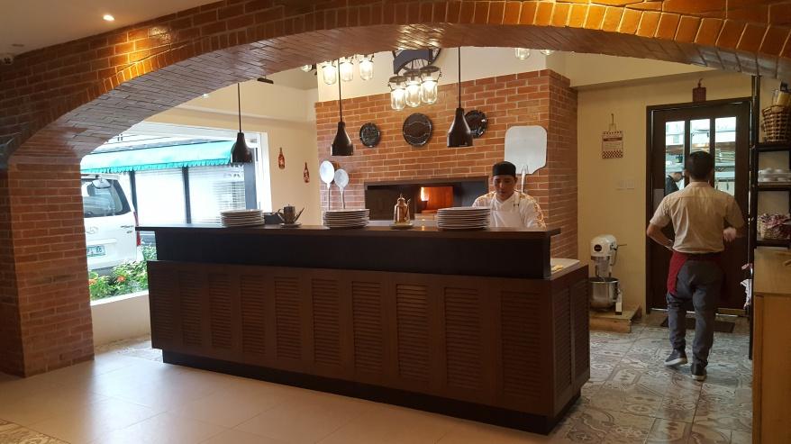 Pizza corner at Francesco's Kitchen