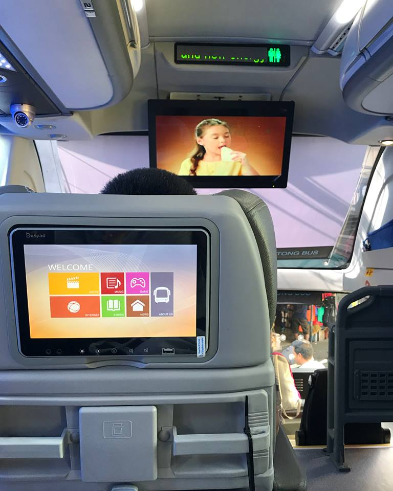 TV Monitor as you ride the JoyBus executive heading to Baguio