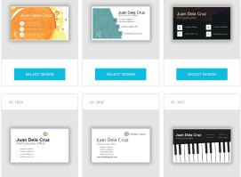 Business card printing online