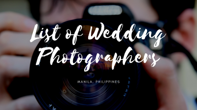 List of wedding photographers for wedding