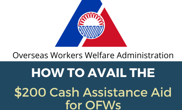 OWWA to give cash assistance for OFWs