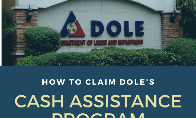 DOLE cash assistance program for COVID 19 outbreak